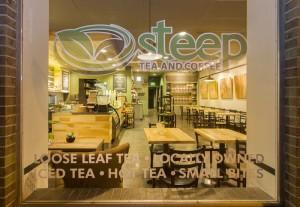 Steep Tea and Coffee - corner of Albion & 8th Avenue