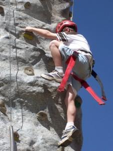 kid climbing